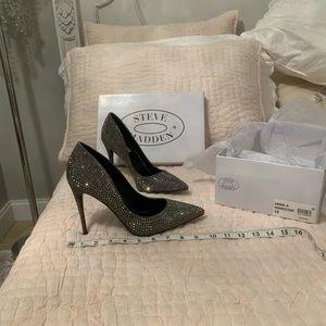 Steve Madden rhinestone heels size 10, never worn